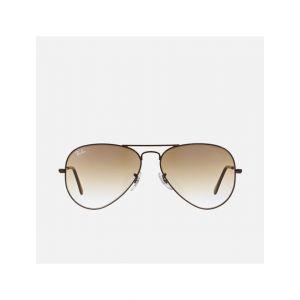 Ray Ban RAY-BAN Men UV-Protected Aviator Sunglasses - 0RB3025-014-51-55