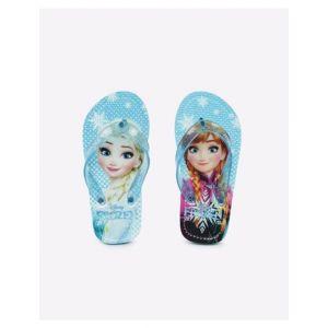 Frozen Print Thong-Strap Flip-Flops