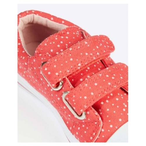 Printed Slip-On Casual Shoes with Velcro Closure