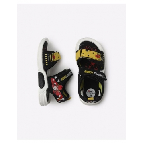 Justice League Print Velcro-Strap Sandals