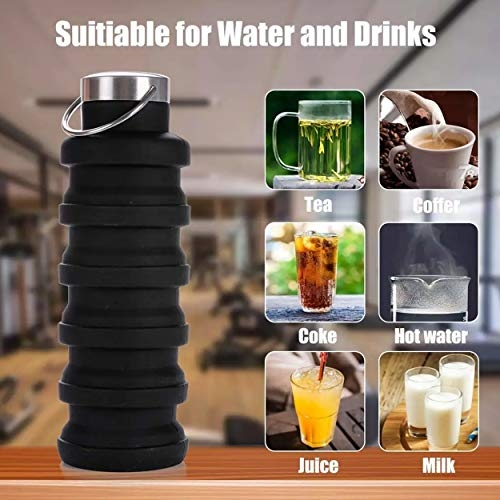 Geetalaxmi Silicone Expandable and Foldable Light Weight Water Bottle