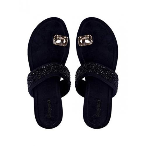Sayera Stylish Gems Sandal for Women | Sandal Chappals for Girls | Women Sandal Flat Stylish
