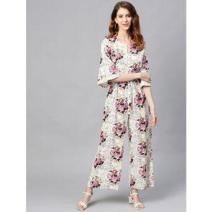 Juniper keyhole neck floral jumpsuit