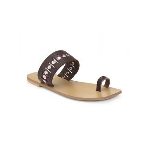 Top Notch brown one toe sandals