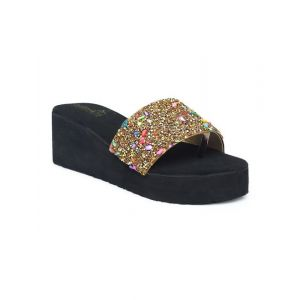 butterflies steps latest collection, comfortable wedges sandal for women's & girl's (rose gold) (ghs-0049rgd-s3)