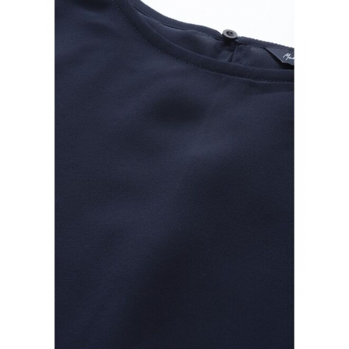Mast & Harbour Women Navy Blue Solid Layered Cape Top
