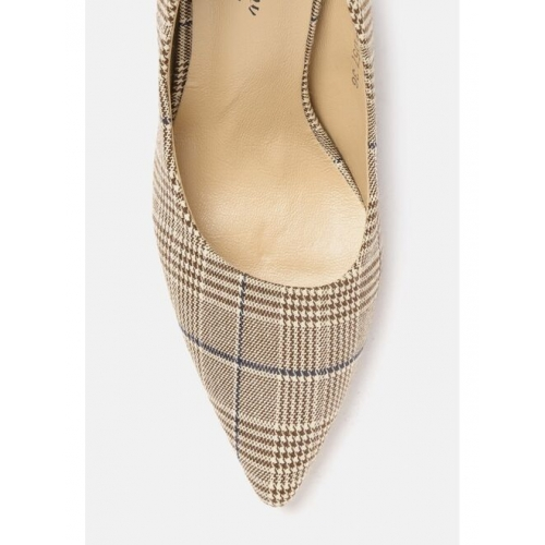 all about you Women Beige & Brown Woven Design Pumps