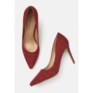 all about you Women Red Printed Pumps