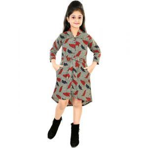 A-Z dresses Girls Midi/Knee Length Party Dress(Multicolor, 3/4 Sleeve)
