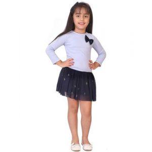 Starbug Girls Midi/Knee Length Casual Dress(Dark Blue, 3/4 Sleeve)