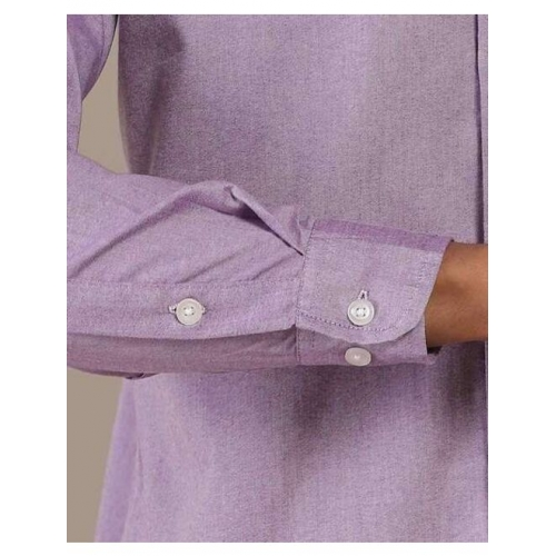 Indie Picks Kamla Cotton Chambray Spread-Collar Shirt