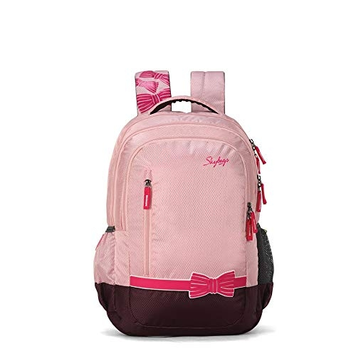 Skybags Pluto Pink Mesh Backpack