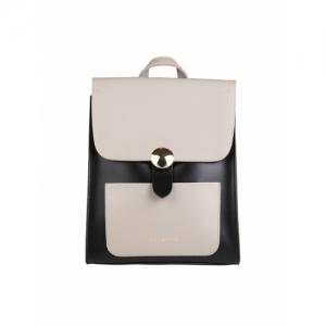 Addons Black Polyurethane Solid Backpack