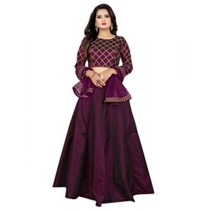 New Look ELIPS New Lehenga Choli With Duppata And Have A New Purple (Wine) Color For Womens And Girls - 119