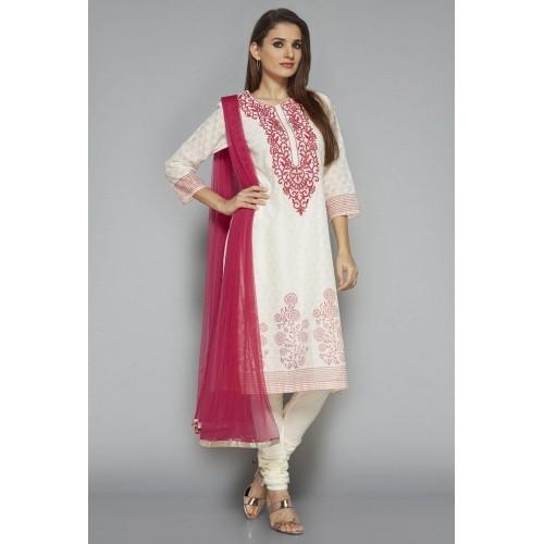 4249663290 Buy Vark by Westside Off White Embroidered Suit Set online ...