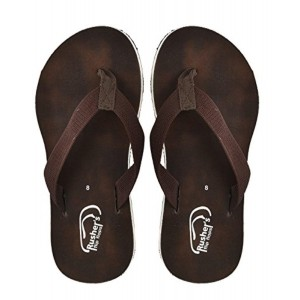 Rusher's Brown Flip Flop Slippers For Men