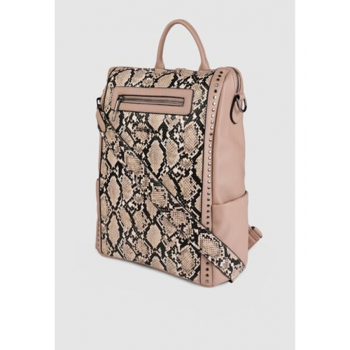 CORSICA Women Pink Graphic Backpack