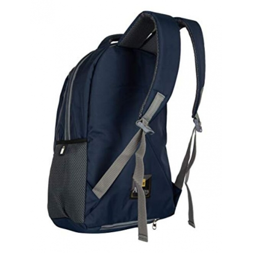 Lenovo Half Moon 35 L Casual Waterproof Laptop Bag/Backpack for Men Women Boys Girls/Office School College Teens & Students with Rain Cover (18 Inch) (Navy)