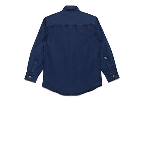 AJ DEZINES Blue Denim Casual shirt