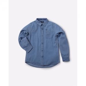 KB TEAM SPIRI Med-Blue Denim Shirt with Patch Pocket