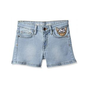 Pepe Jeans Girl's Regular fit Cotton Shorts