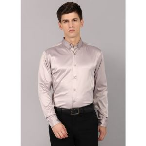 RODID Men Solid Party Beige Shirt
