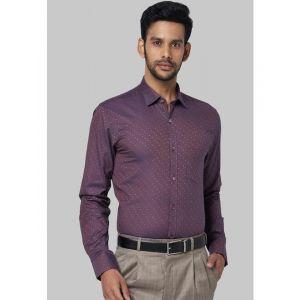 Park Avenue Men Purple & Orange Slim Fit Self Design Casual Shirt
