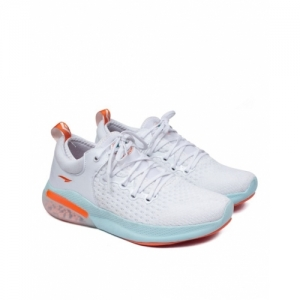 Asian White Mesh Lace Up Light Weight Sports Shoes