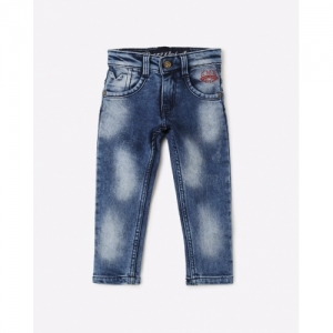 Denikid Blue Denim Washed Mid-Rise Jeans