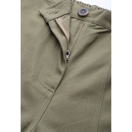Popnetic Women Olive Green Solid Pure Cotton Regular Shorts
