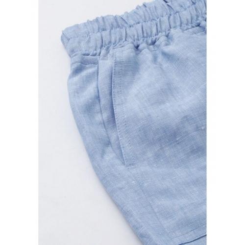 Allen Solly Woman Women Blue Solid Regular Shorts