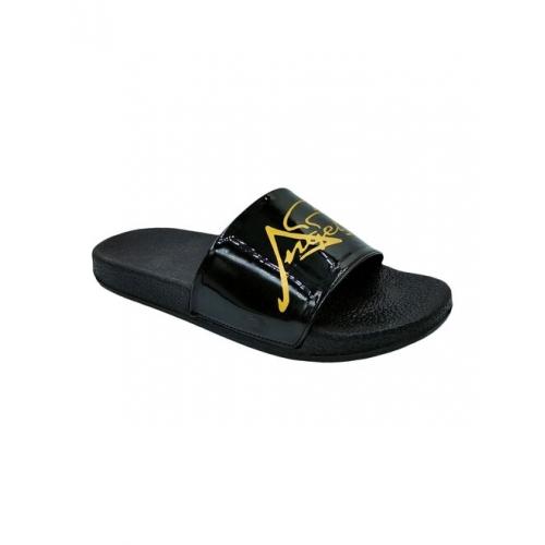 black slip on flip flop