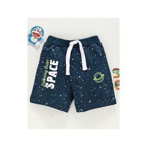 Babyhug Shorts with Drawstring - Navy