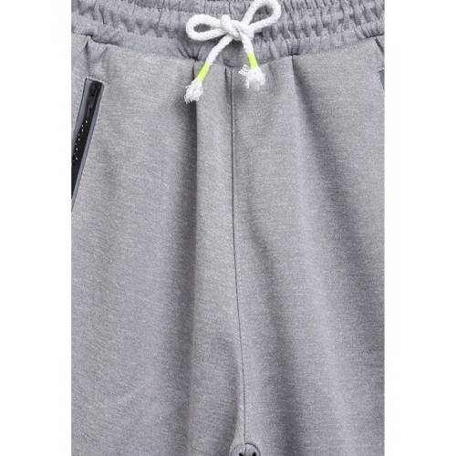 Lil Tomatoes Boys Grey Solid Regular Fit Regular Shorts With A Pen