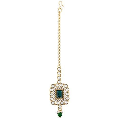 Peora Traditional Crystal Kundan Pearl Bridal Choker Necklace Jewellery Set
