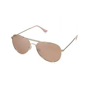 Fastrack UV Protected Aviator Women's Sunglasses - (M184PK7F|58|Yellow Color)
