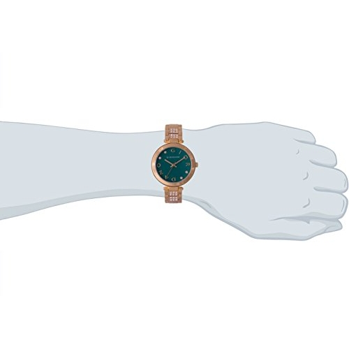 Giordano A2040-11 Metal Strap Round Shape Analog Green Dial Watch