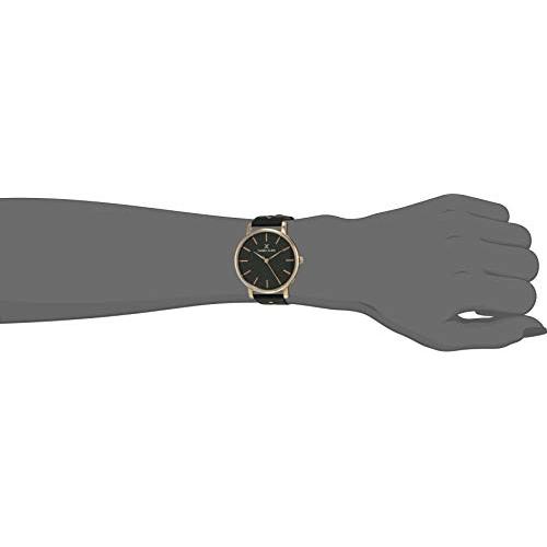 Daniel Klein DK.1.12451-6 Black Leather Analog Black Dial Women's Watch