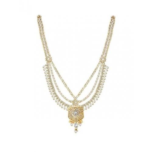 Peora Studded Gold-Toned Jewellery Set