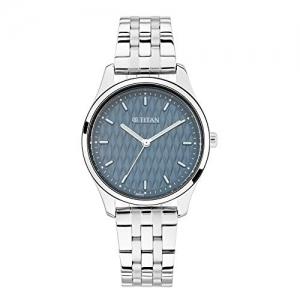 Titan 2639SM02/NN2639SM02 Steel Metal Round Shape Analog Blue Dial Watch