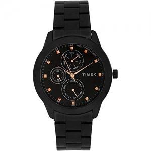 Timex TWEG18502 Stainless Steel Round Shape Analog Black Dial Watch