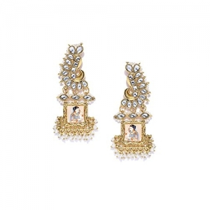 Zaveri Pearls Padmavati Inspired Gold Tone Dangle Earring For Women-ZPFK7373
