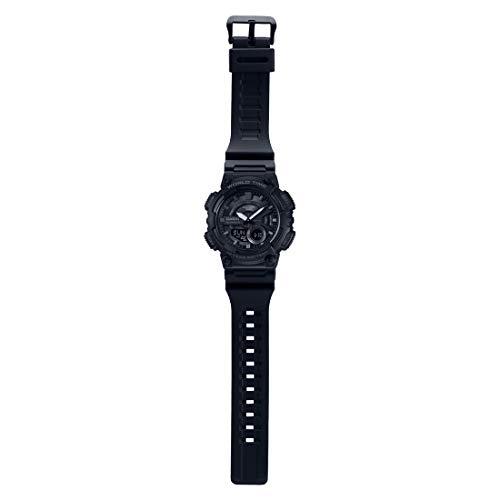 Casio AEQ-110W-1BVDF Black Resin Youth Series Analog-Digital Black Dial Watch