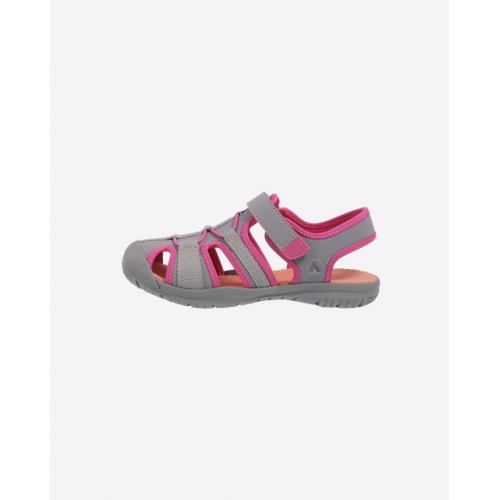 RUGGED OUTBACK Grey & Pink Sandals with Velcro Fastening