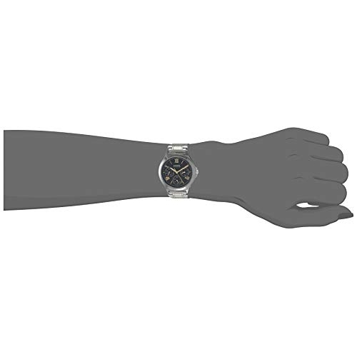 Casio LTP-V300D-1A2UDF (A1694) Stainless Steel Enticer Ladies Analog Black Dial Watch