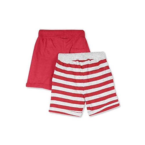 Cherokee by Unlimited Boy's Red Slim fit Cotton Shorts