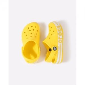 CROCS Yellow Bayaband Clogs with Branding