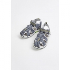 Fame Forever by Lifestyle Grey & Green Fisherman Sandals