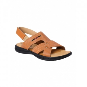 Red Chief Tan Leather Back Strap Sandal