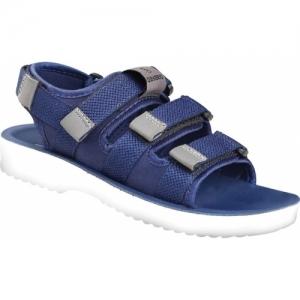 DAYBRIO Blue Velcro Strappy Sandals